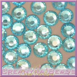 50 Pz Strass hot fix Aquamarine SS16 4 mm