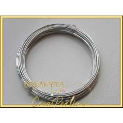 10 mt. Cavetto in alluminio wire  0.8 mm argentato