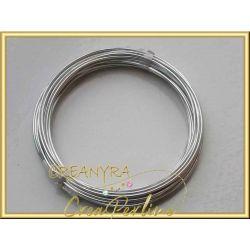 10 mt. Cavetto in alluminio 1,5 mm argentato