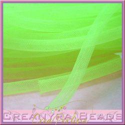 1 Metro Calza Rete tubolare giallo verde neon 8 mm in nylon