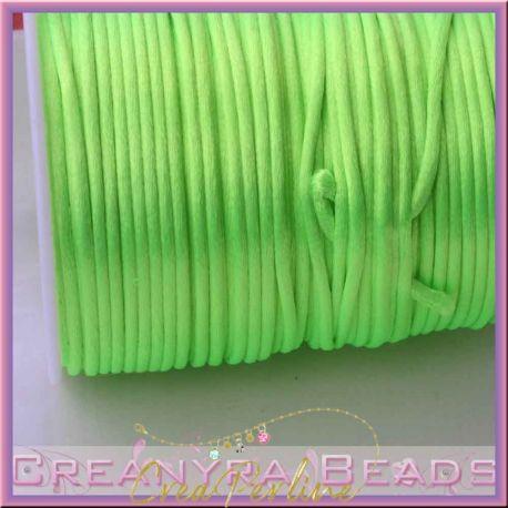 1 Mt Coda di topo colore Verde neon 2 mm