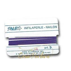 Infilaperle N:3 LILLA 361 con ago mt 2