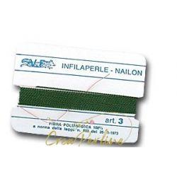 Infilaperle N:3 VIOLA 372 con ago mt 2
