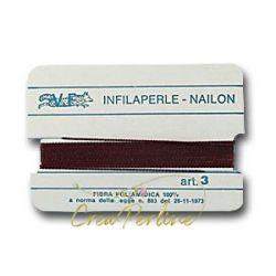 Infilaperle N:3 MARRONE 295 con ago mt 2