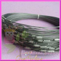3 Pz Girocollo memory wire choker argento semirigida