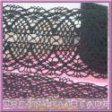 50 cm Nastro in pizzo duchesse nero in cotone altezza 46 mm