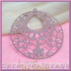 Filigrana smaltata Ovale Rosa antico 6,4x4,7 cm