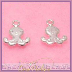 Ciondolo Charms Mini medusa in argento .925