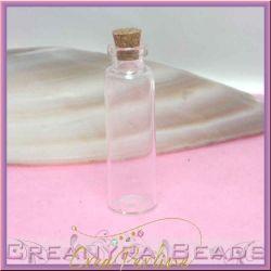 4 Pz Bottiglietta in vetro tappo in sughero 55x16 mm