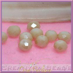 10 pz Rondella briolette mezzo cristallo sabbia luster 8 mm