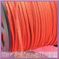 5 Mt alcantara col. Rosso Glitter  3 mm spessore 1,5