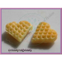 Dollshouse Mini Biscotto wafer cialda Cuore  in resina10 mm