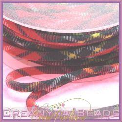 1 Mt Fettuccia elastica tubolare  in Lycra Scozzese rosso 651