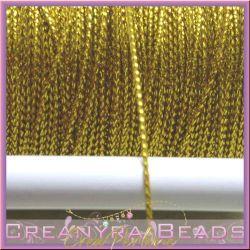 1 metro Cordino in Nylon metallizzato Oro 0.8 mm