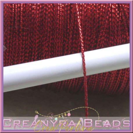 1 metro Cordino in Nylon metallizzato Rosso 0.8 mm