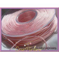 1 metro Cordino in Viscosa ritorto 3 capi colore Rosa 23