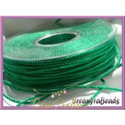 1 metro Cordino in Viscosa ritorto 3 capi colore Smeraldo 32
