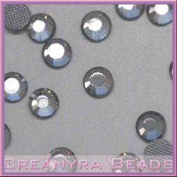 50 Pz Strass hot fix Crystal fumo  SS16 4 mm
