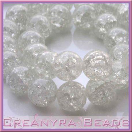 Maxi sfera 14 mm in vetro crackle crystal
