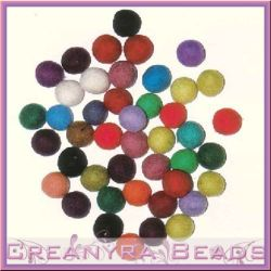 10 Pz Palline in feltro 15 mm colori misti