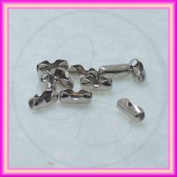 25 Pz Spinetta chiusura tono platino  per catena pallini 2-2.4mm
