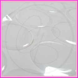 Cabochon ovale clear in resina 18x13 mm