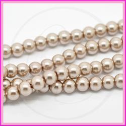 25 Pz  perla in vetro cerato 8 mm quarzo