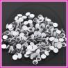 100 Pz Occhietti tondi movibili 6 mm bianco neri