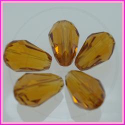 5 Pz Goccia in cristallo Briolette Miele 16x10 mm