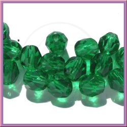 30 Pz Perle Cristallo fire polish LT.  Emerald 6 mm
