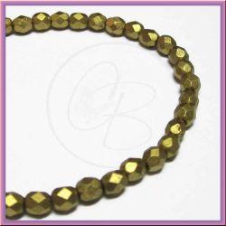 30 pz Perle perle cristallo fire polish Matte Metallic atzec gold 6mm