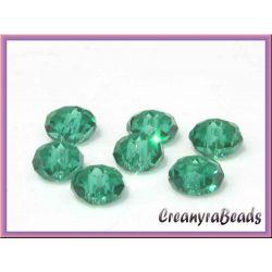 1 filo Perle rondella Smeraldo cristallo briolette 6mm (+/-100 Pz)