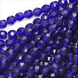 30 pz Perle perle cristallo fire polish Dark Sapphire