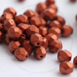30 pz Perle perle cristallo fire polish Matte Dark Copper