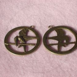 Charms ciondolo BRONZATO GHIANDAIA HUNGER GAME 44x40 MM