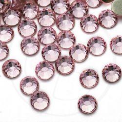 50 Pz Strass hot fix Light pink SS16 4 mm
