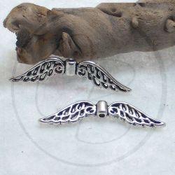 10 Pz Distanziatore ali intagliate in metallo tono antico