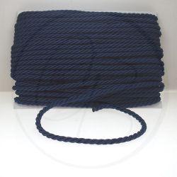 1 metro Cordino in Cotone acetato  ritorto 3 capi blu 050