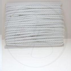 1 metro Cordino in Cotone acetato  ritorto 3 capi Bianco 01