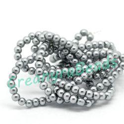 1 Filo perle in vetro cerato pietra 4 mm (oltre 220 perle)