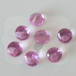 50 Pz Strass Glicine 8 mm taglio diamante in acrilico (resina trasparente glicine)