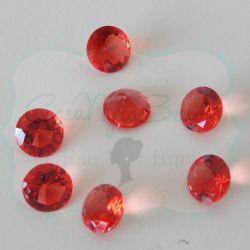 50 Pz Strass Rosso 8 mm taglio diamante in acrilico (resina trasparente Rosso)