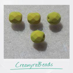 20 Pz Perle Cristallo fire polish Lavanda 6 mm