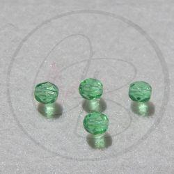20 Pz Perle Cristallo fire polish Verde 6 mm