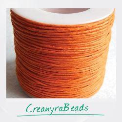 10 Mt (1spoletta) filo di cordino cerato Arancio 1 mm