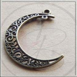 Ciondolo Chandelier Luna in metallo tono bronzo 38 mm