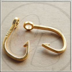 Ciondolo Chiusura Amo in metallo tono Oro 38 mm