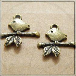 Charms ciondolo Pigna 3d  in metallo tono bronzo 13 mm