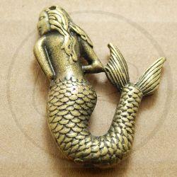 Charms ciondolo Sirena Bronzo 3 d 36 mm
