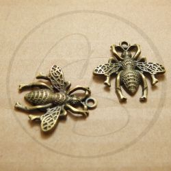 Charms ciondolo Calabrone in metallo bronzo 26 mm